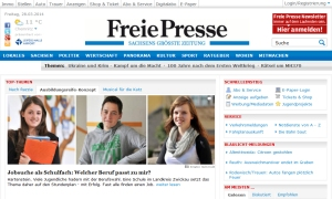 Screenshot freiepresse.de