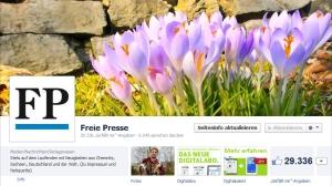 Screenshot der Freie Presse-Facebook-Seite