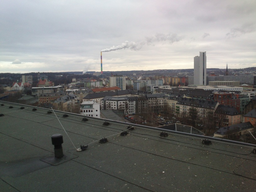 Blick vom Rosenhofhochhaus nach Norden.
