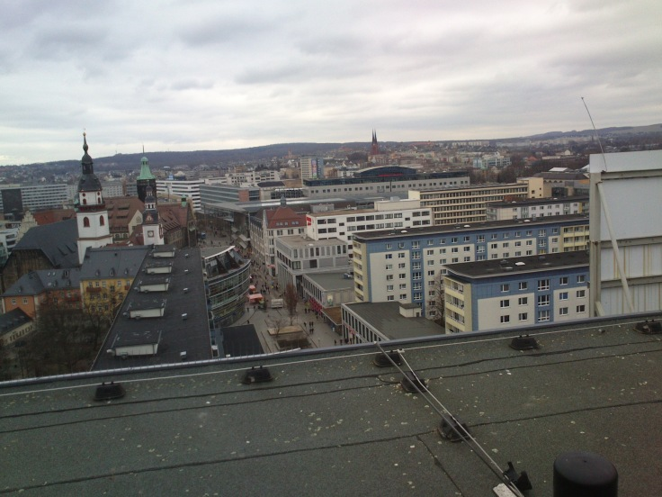 Blick vom Rosenhof-Hochhaus