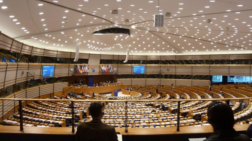 Das Herzstück des Europäischen Parlaments: Wenn wirklich alle da sind, sind hier 766 Plätze besetzt.