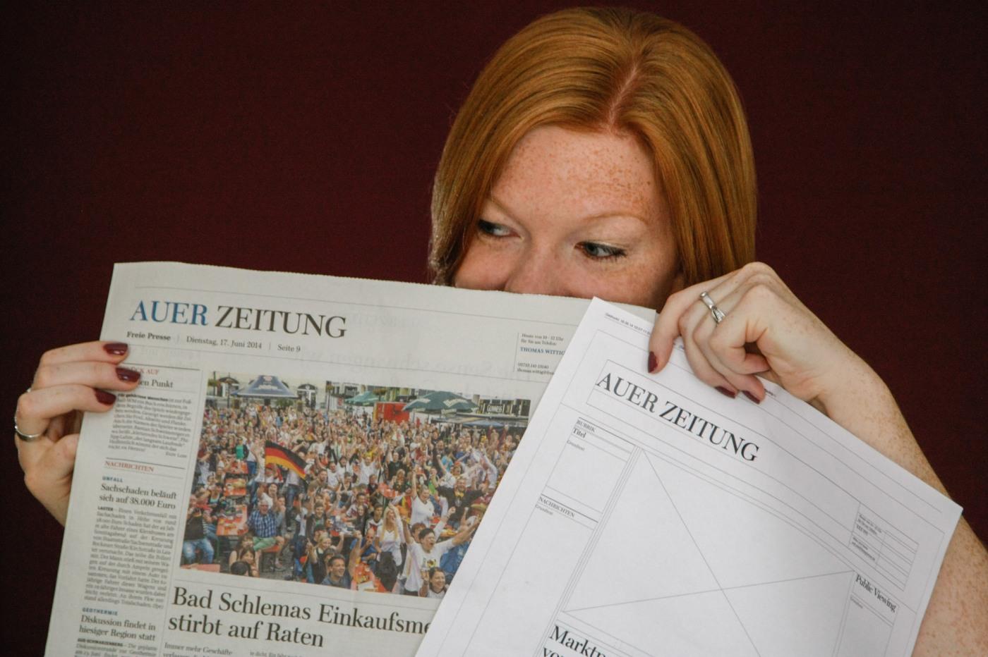 Von leeren Seiten zur fertigen Zeitung – So entsteht tagtäglich die ...